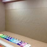 29.09.2012: Die ersten Papierbahnen sind dran.
